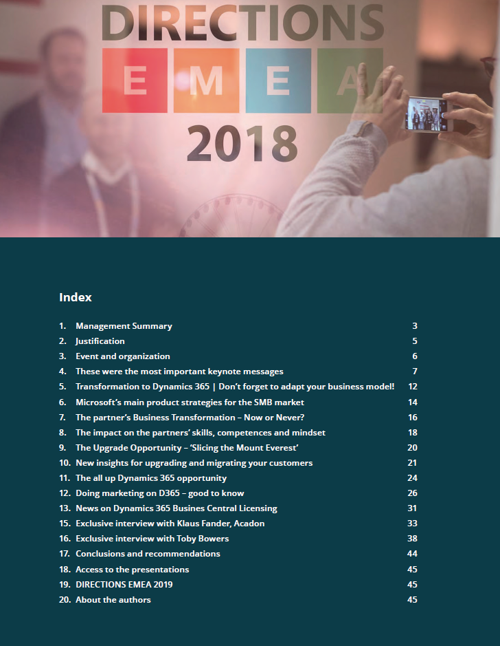 Directions EMEA 2018 Business Report QBS Group