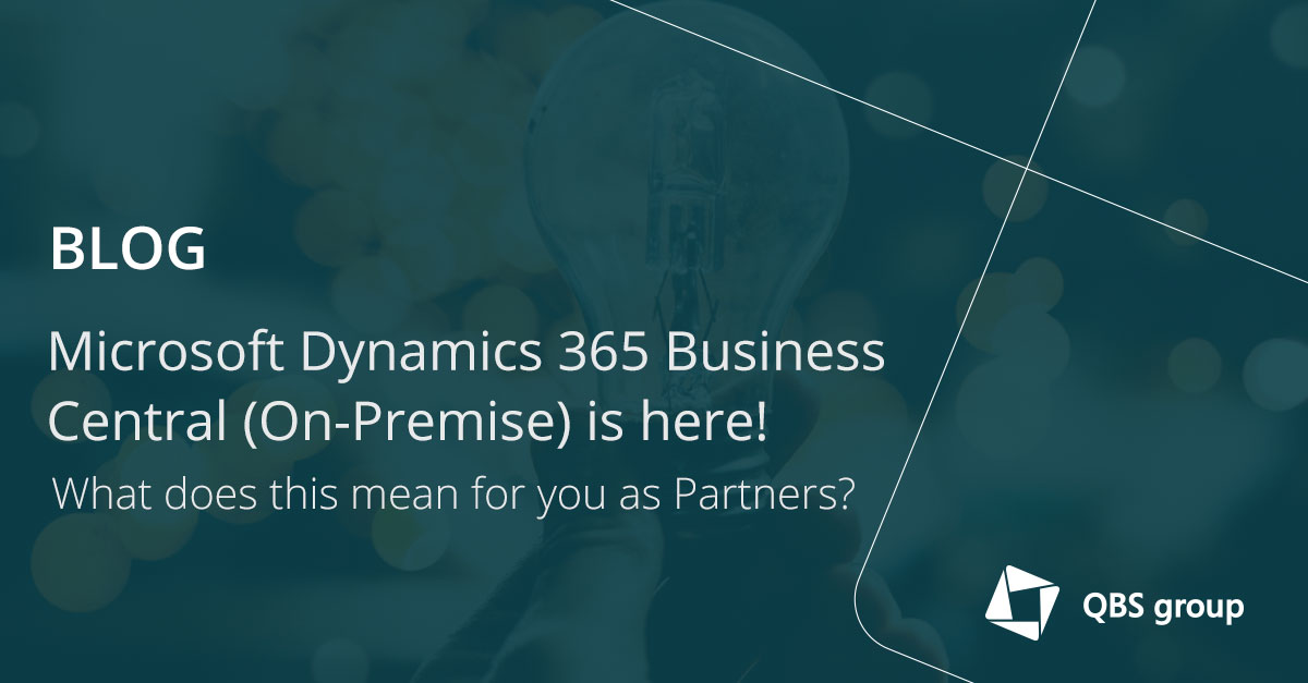 Microsoft Dynamics 365 Business Central (On-Premise) is here! What