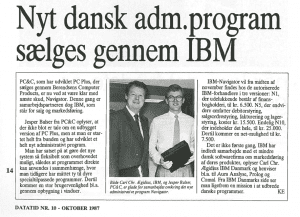 news paper navision to be sold by IBM