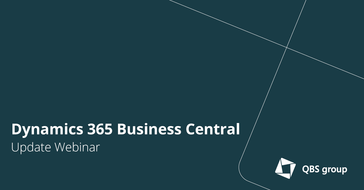 Dynamics 365 Business Central Update Webinar