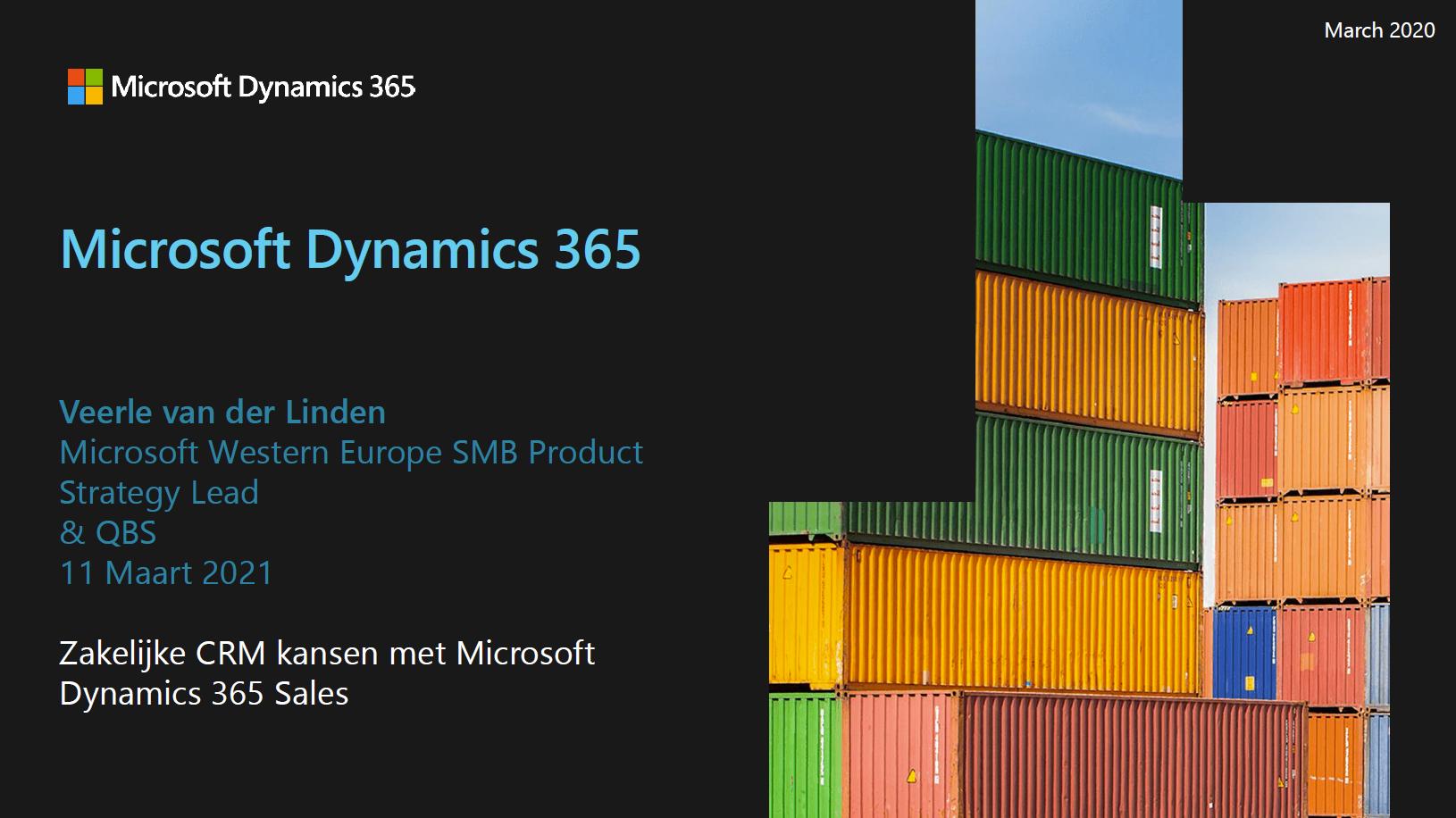 Waar Liggen Voor U Als ICT Partner De Zakelijke CRM Kansen Met Microsoft Dynamics 365 Sales