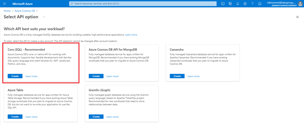 Cosmos versus Azure SQL and how to integrate with Dynamics 365 Business Central #MSDYN365BC