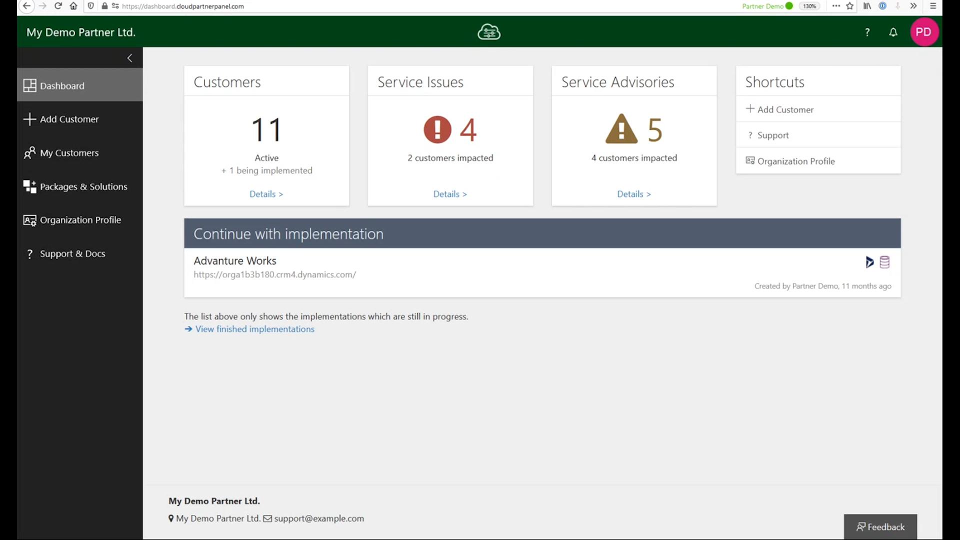 Cloud Partner Panel – Partner management software voor Microsoft Dynamics 365 en Power Apps - Monitor